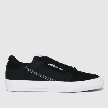 adidas Black & White Continental Vulc Mens Trainers