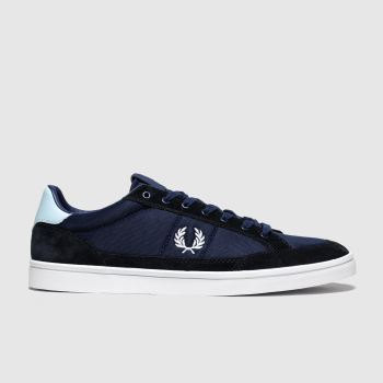 Fred Perry Navy & White Deuce Mens Trainers