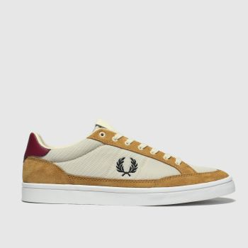 Fred Perry Tan Deuce Mens Trainers