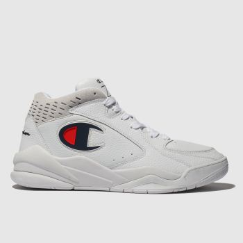 Champion White Zone Mid Mens Trainers