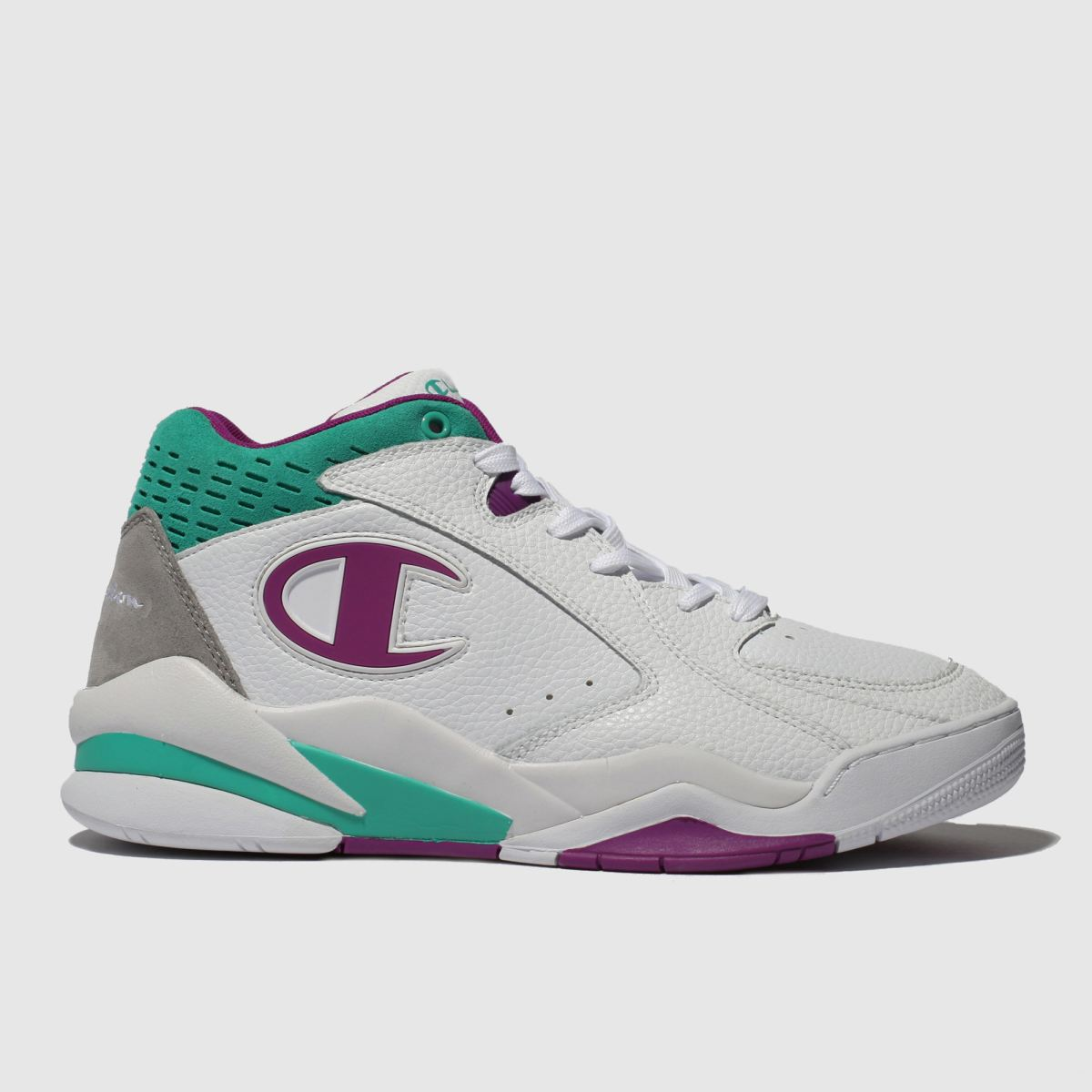 Champion White & Purple Zone Mid Trainers