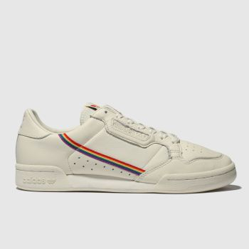 Adidas White Continental 80 Pride Mens Trainers