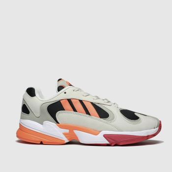 Adidas Beige & Orange Yung-1 Mens Trainers