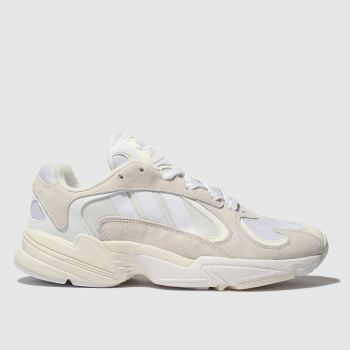 Adidas White Yung-1 Mens Trainers