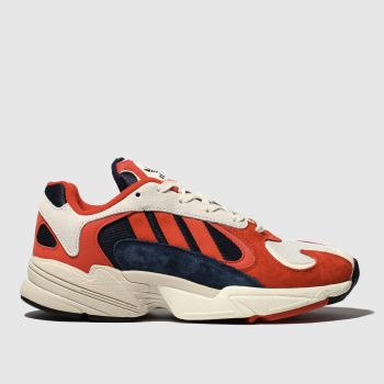 Adidas Navy & Red Yung-1 Mens Trainers