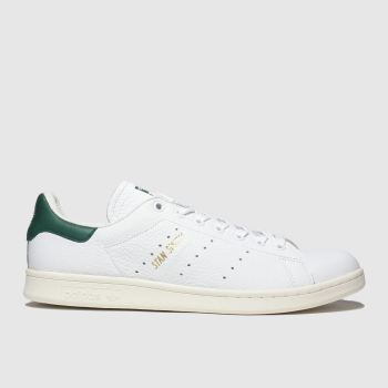 Adidas White & Green Stan Smith Mens Trainers