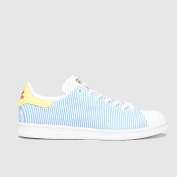 adidas Pale Blue Stan Smith Pride Mens Trainers