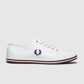 Fred Perry White & Navy Kingston Twill Mens Trainers