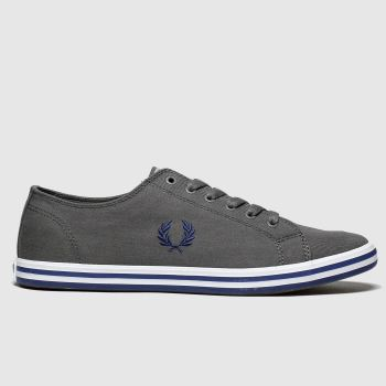 Fred Perry Dark Grey Kingston Twill Mens Trainers#