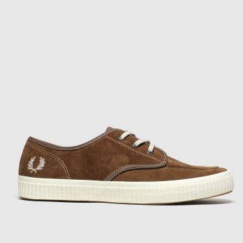 Fred Perry Tan Ealing Low Mens Trainers