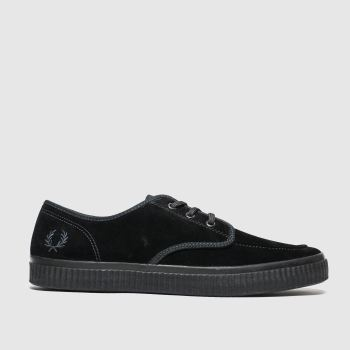 Fred Perry Black Ealing Low Mens Trainers