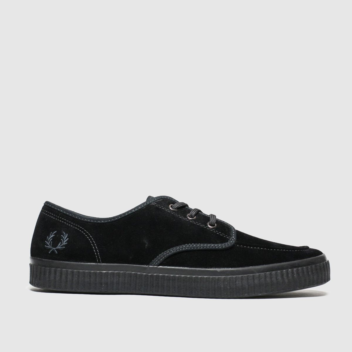 Fred Perry Black Ealing Low Trainers