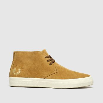 Fred Perry Tan Portwood Suede Mens Trainers