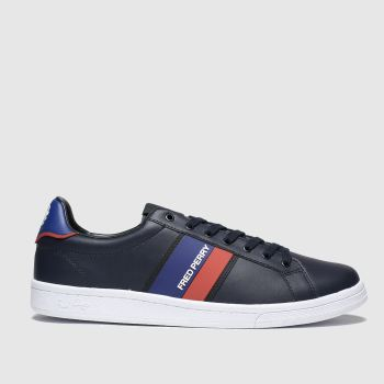 Fred Perry Navy & Red B721 Two Tone Mens Trainers