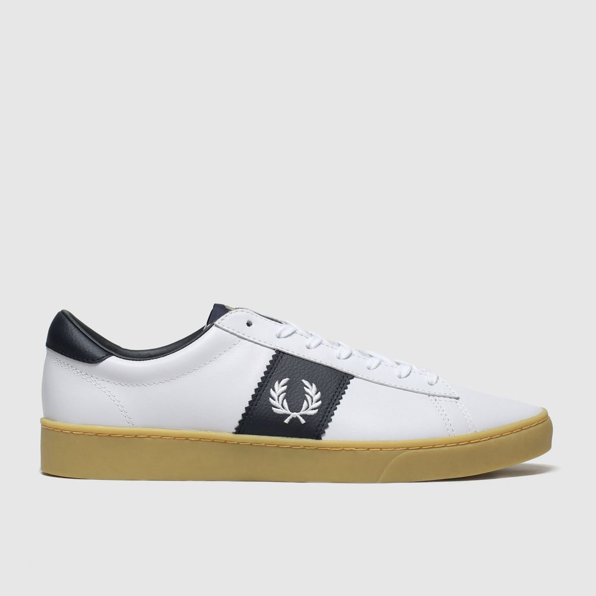 Fred Perry White & Navy Spencer Trainers