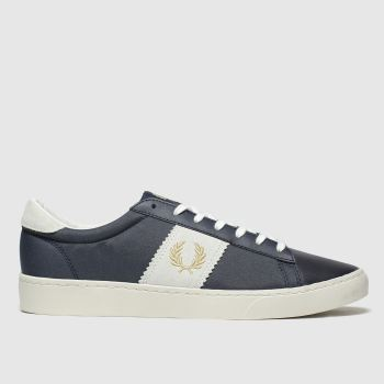 Fred Perry navy & gold spencer trainers