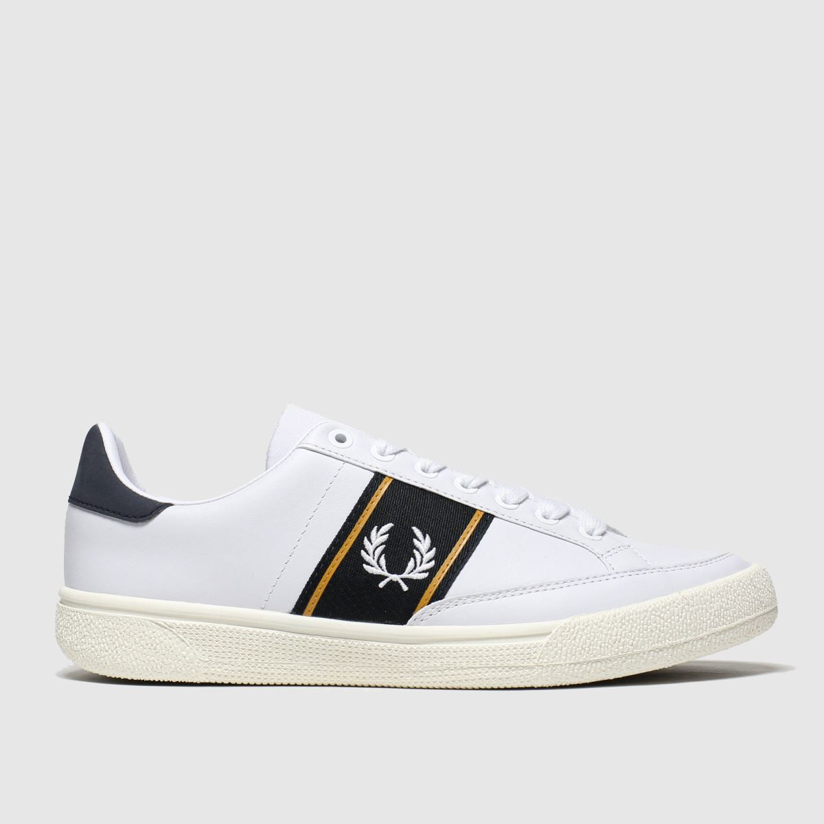 Fred Perry White & Navy B3 Leather Trainers
