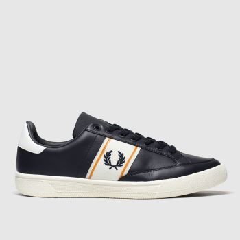 Fred Perry Navy & White B3 Leather c2namevalue::Mens Trainers
