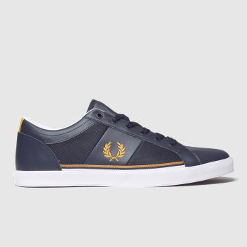 Fred Perry Navy & Gold Baseline Mesh Mens Trainers