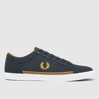 Fred Perry Navy & Gold Baseline Twill Trainers