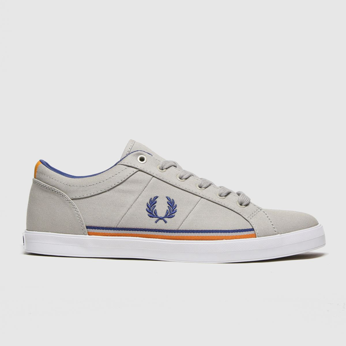 Fred Perry Light Grey Baseline Twill Trainers