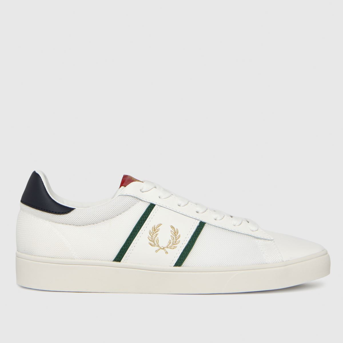 Fred Perry White & Gold Spencer Leather Trainers