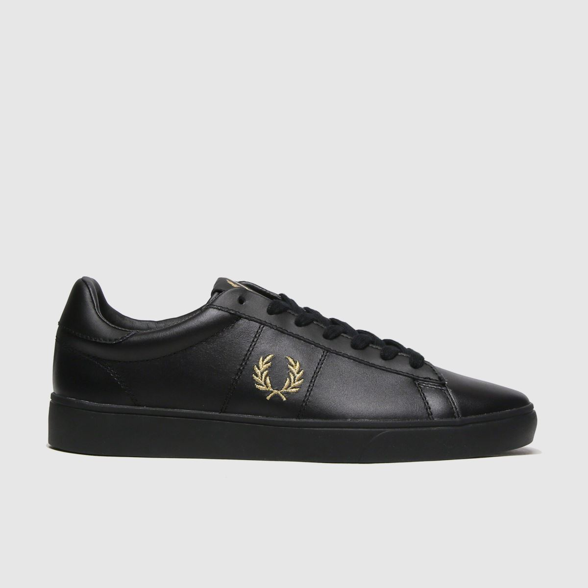 Fred Perry Black Spencer Leather Trainers