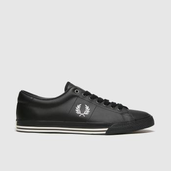 Fred Perry Black Underspin Leather Mens Trainers