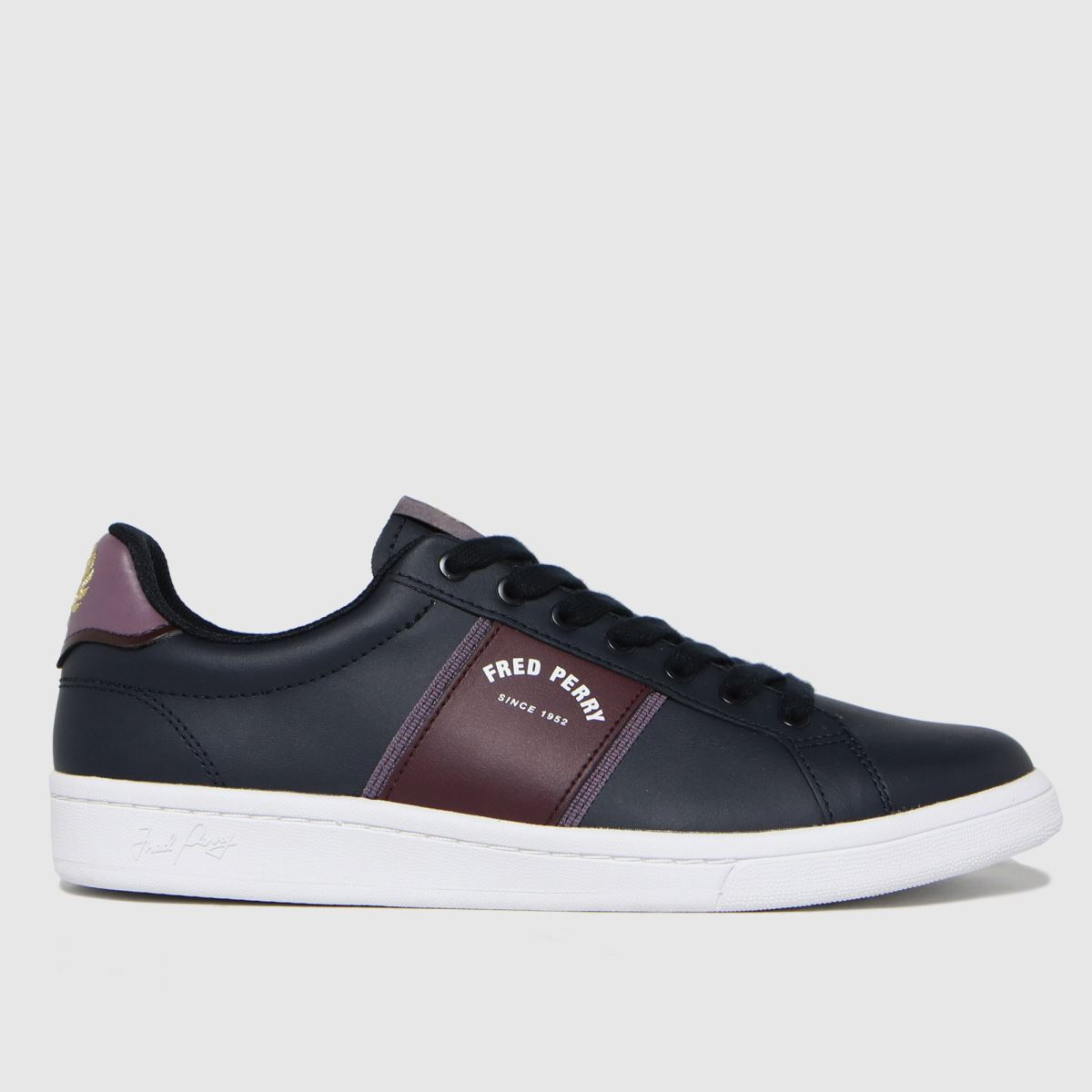 Fred Perry Navy Leather Arch Trainers