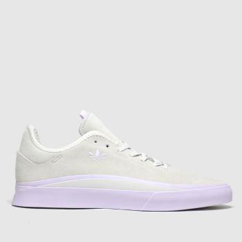 adidas skateboarding white sabalo trainers