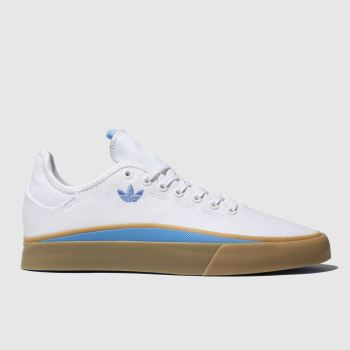 Adidas Skateboarding White & Pl Blue Sabalo Mens Trainers