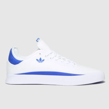 adidas Skateboarding White & Blue Sabalo Mens Trainers