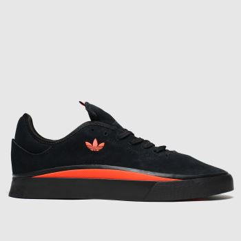 Adidas Skateboarding Black & Red Sabalo Mens Trainers