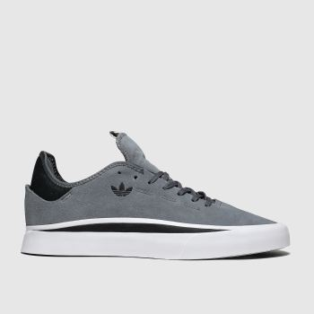 Adidas Skateboarding Grey & Black Sabalo Trainers
