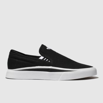 Adidas Skateboarding Black & White Sabalo Slip Mens Trainers