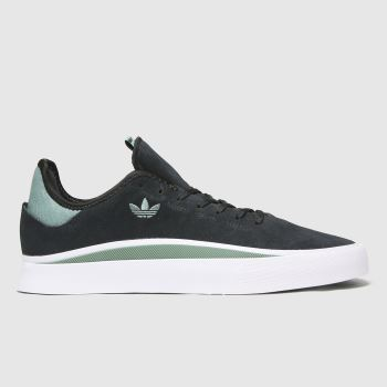 adidas Skateboarding Black & Green Sabalo Slip Mens Trainers