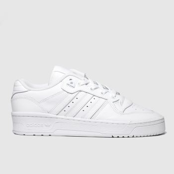 Adidas White Rivalry Low Mens Trainers
