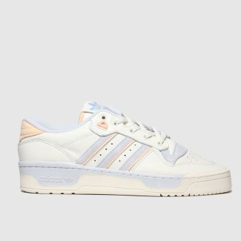Adidas White & Pl Blue Rivalry Low Mens Trainers