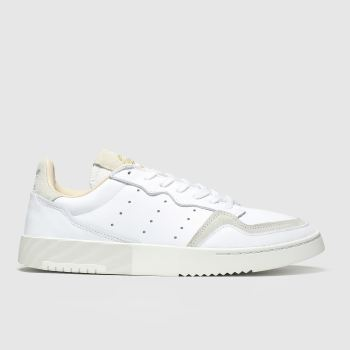 adidas white & beige supercourt trainers