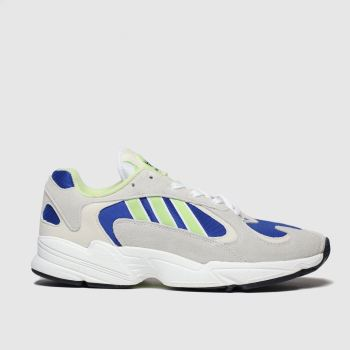 Adidas White & Blue Yung-1 Mens Trainers