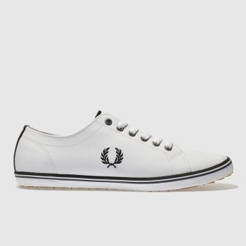 Fred Perry White Kingston Leather Mens Trainers