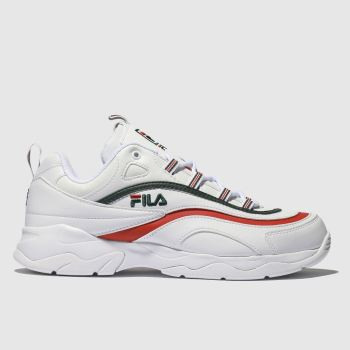Fila White & Red RAY Trainers