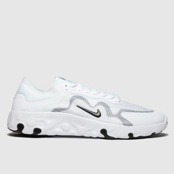 Nike White & Black Renew Lucent c2namevalue::Mens Trainers