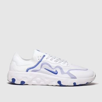Nike White & Blue Renew Lucent c2namevalue::Mens Trainers