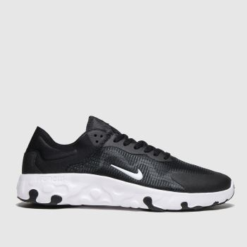 Nike Black & White Renew Lucent c2namevalue::Mens Trainers