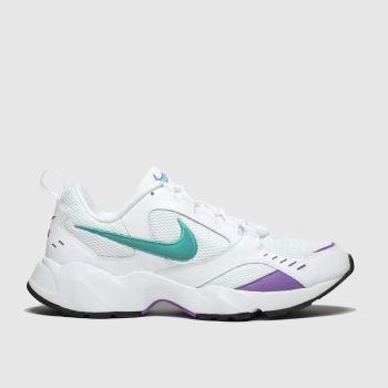 Nike White & Purple Air Heights Mens Trainers