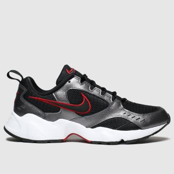 Nike Black & Silver Air Heights Mens Trainers