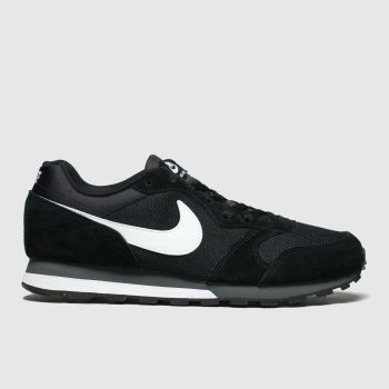 Nike Black & White Md Runner 2 Mens Trainers#