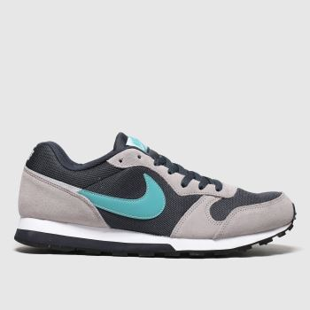 nike grey md runner 2 trainers