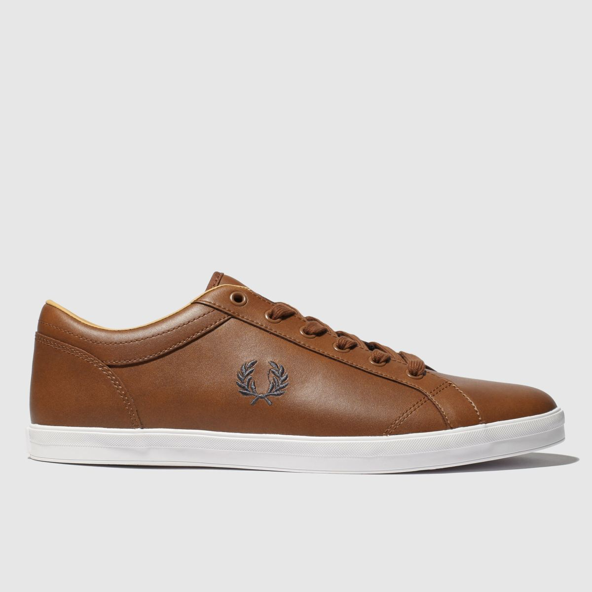 Fred Perry Tan Baseline Trainers